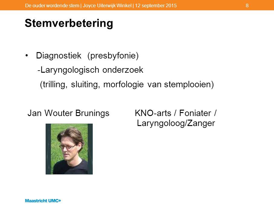 Stemverbetering Diagnostiek (presbyfonie) -Laryngologisch onderzoek