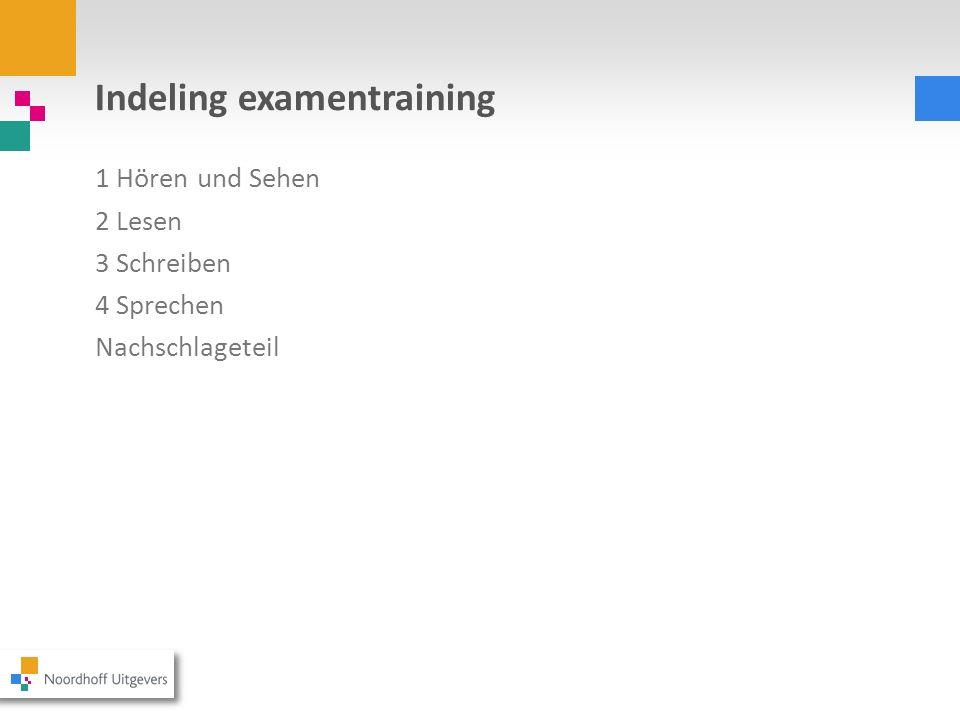 Indeling examentraining