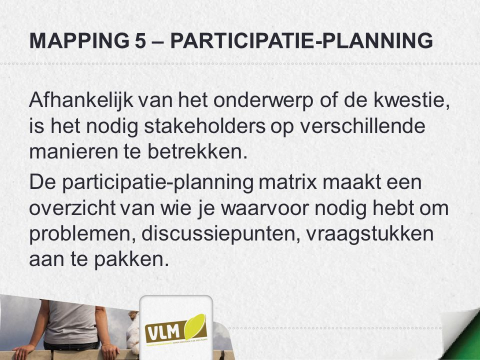 Mapping 5 – participatie-planning