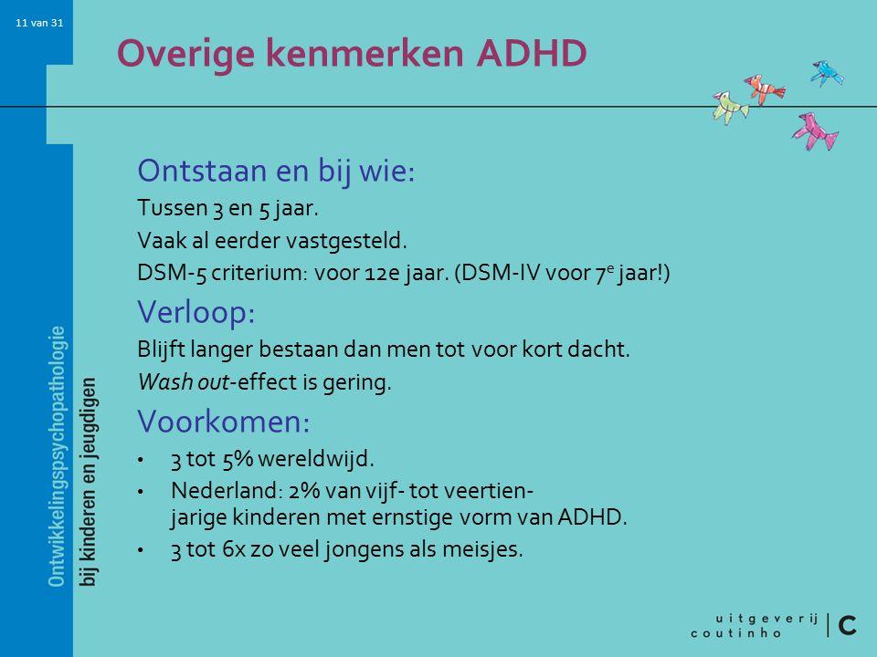 Overige kenmerken ADHD