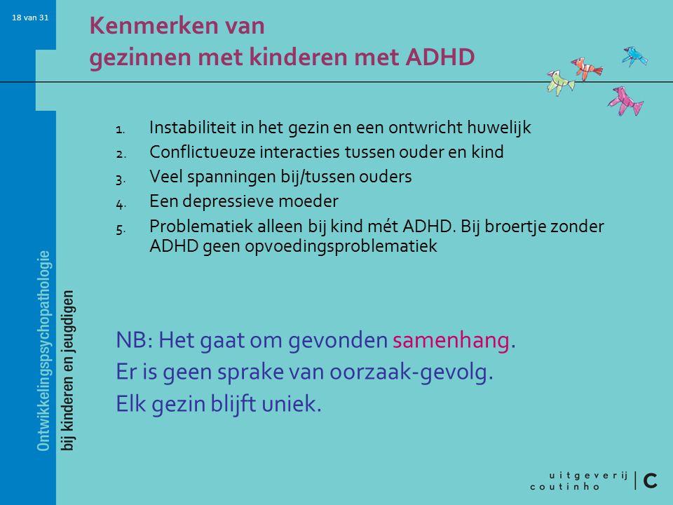 Kenmerken van gezinnen met kinderen met ADHD