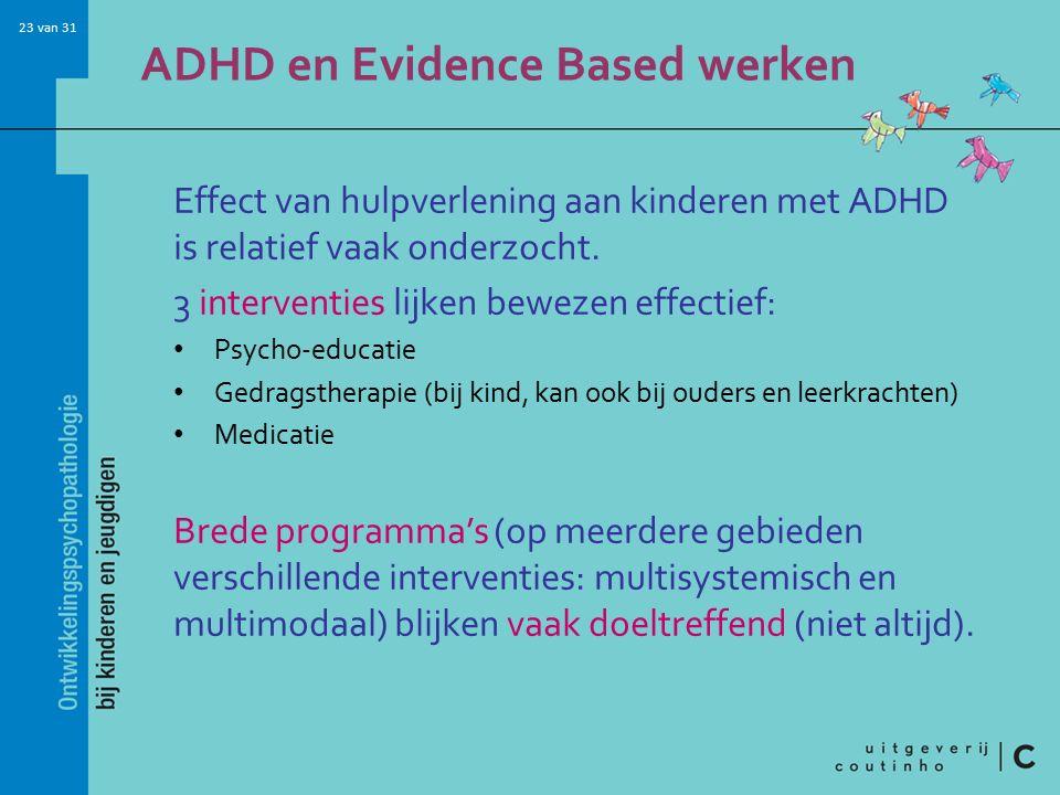 ADHD en Evidence Based werken