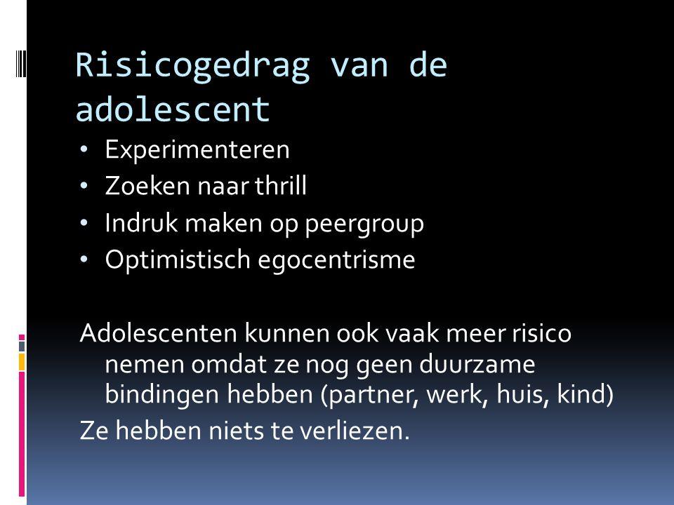Risicogedrag van de adolescent