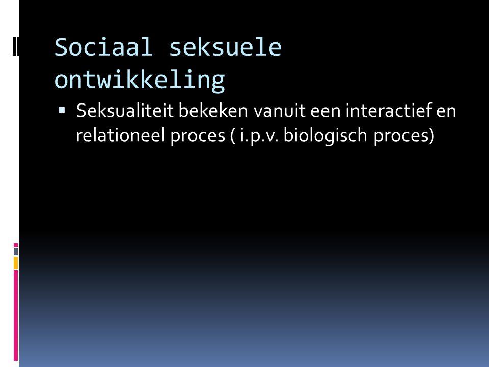 Sociaal seksuele ontwikkeling