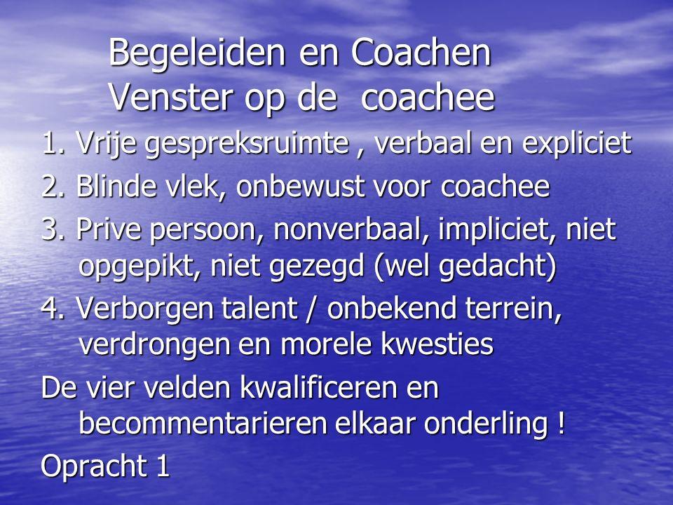 Begeleiden en Coachen Venster op de coachee