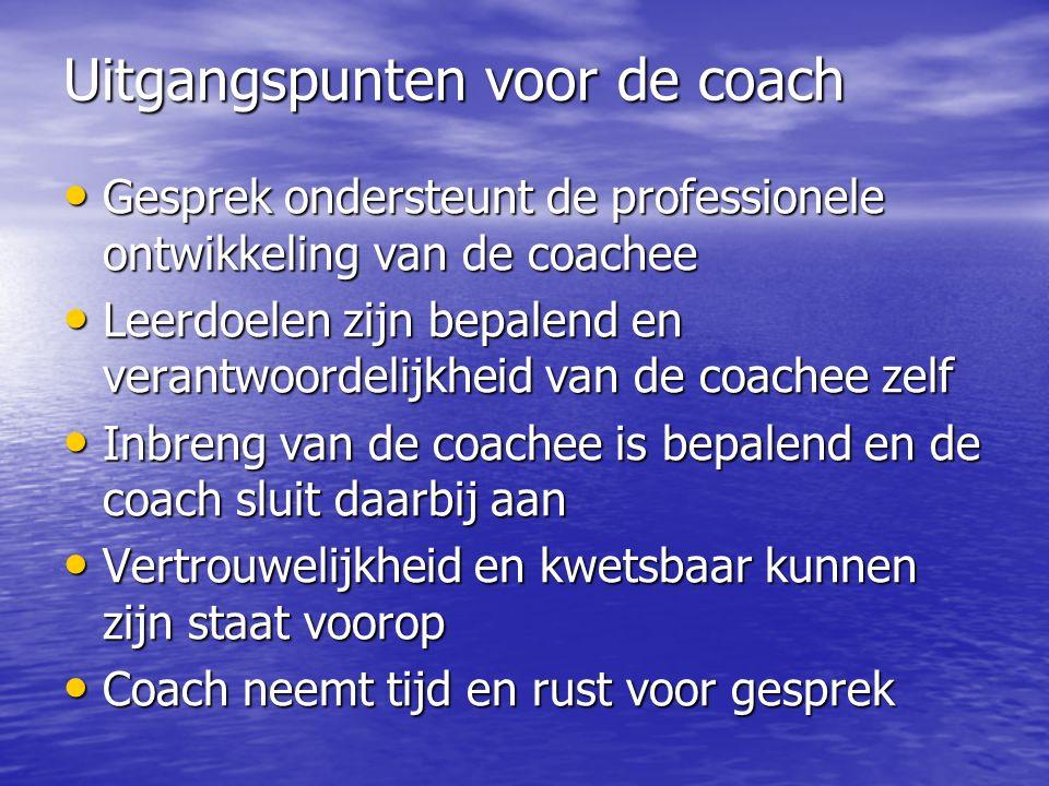 Uitgangspunten voor de coach