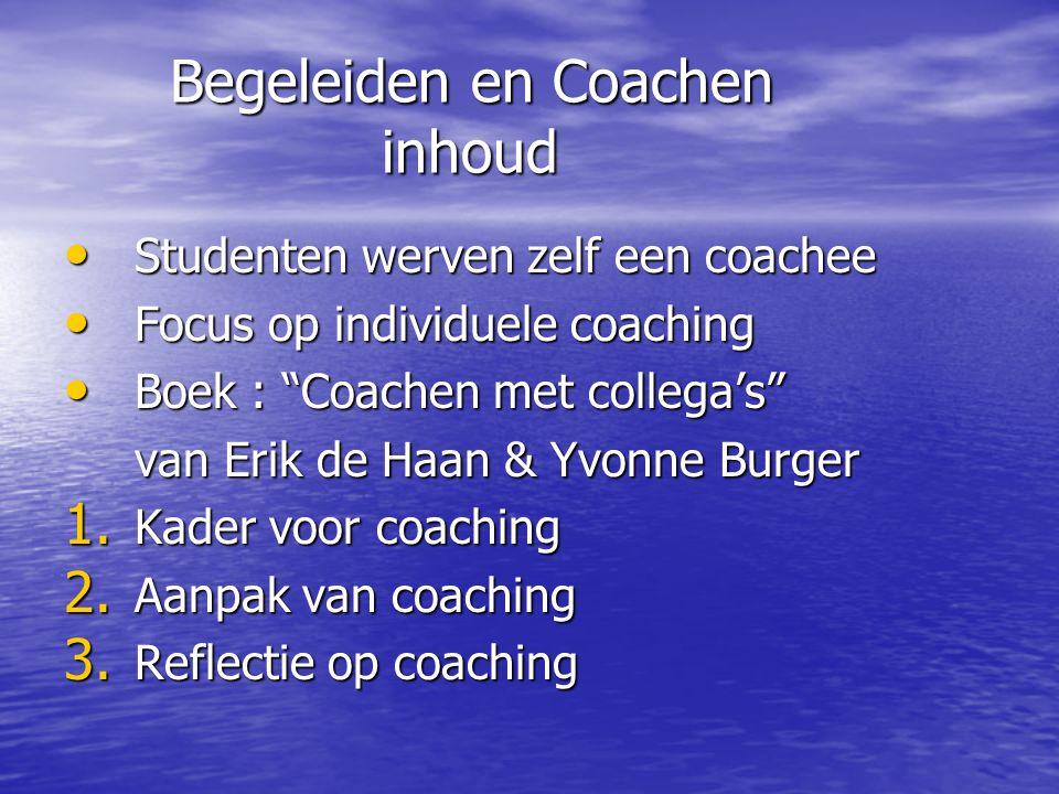 Begeleiden en Coachen inhoud