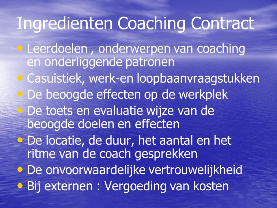 Ingredienten Coaching Contract