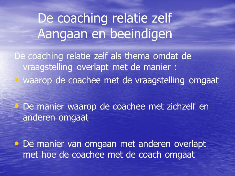 De coaching relatie zelf Aangaan en beeindigen