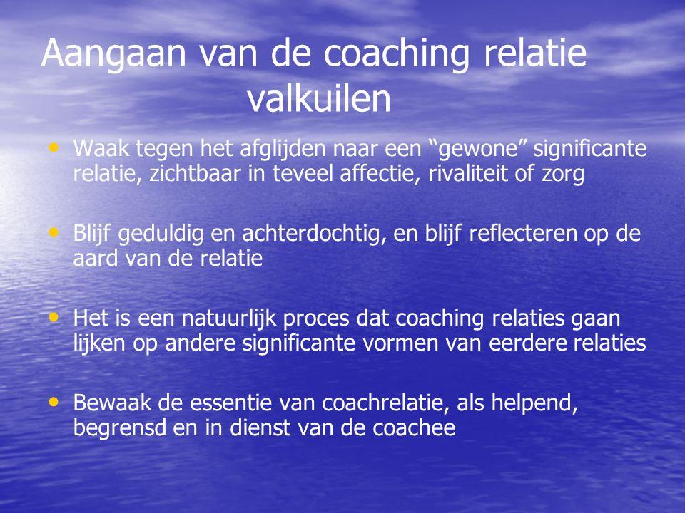 Aangaan van de coaching relatie valkuilen