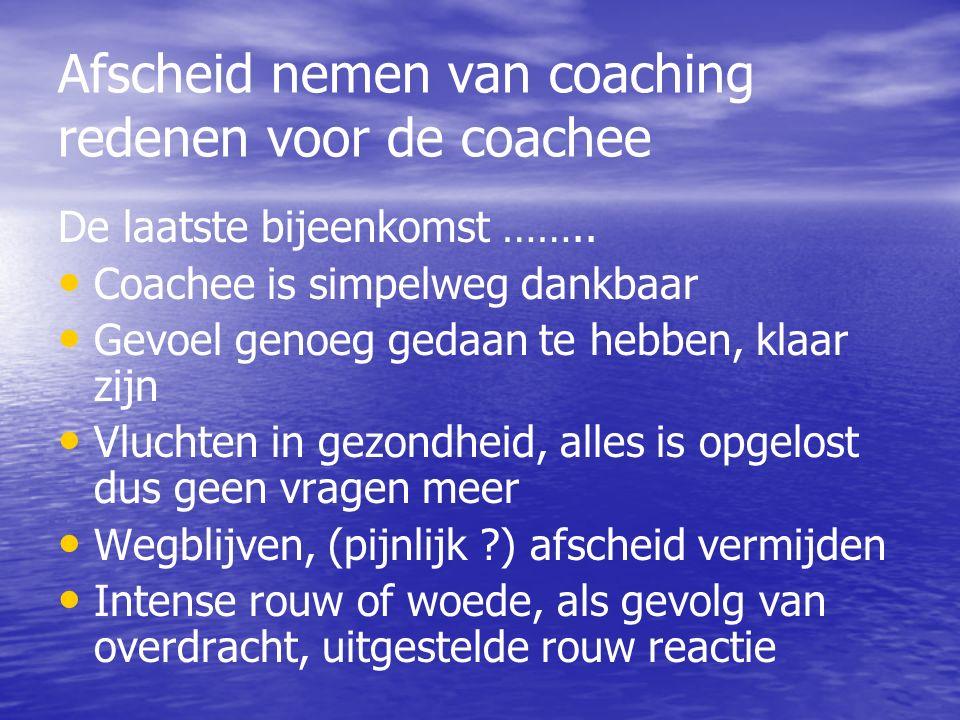 Afscheid nemen van coaching redenen voor de coachee