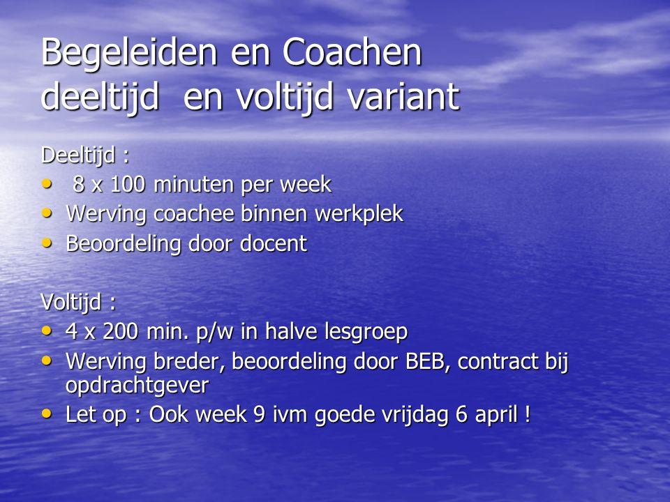 Begeleiden en Coachen deeltijd en voltijd variant