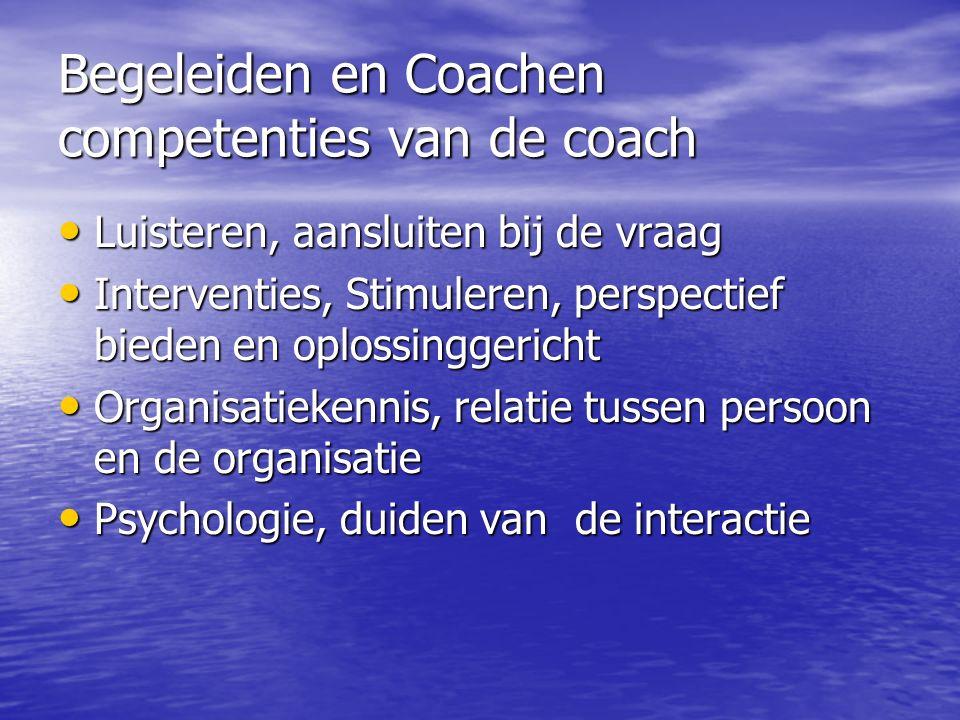 Begeleiden en Coachen competenties van de coach
