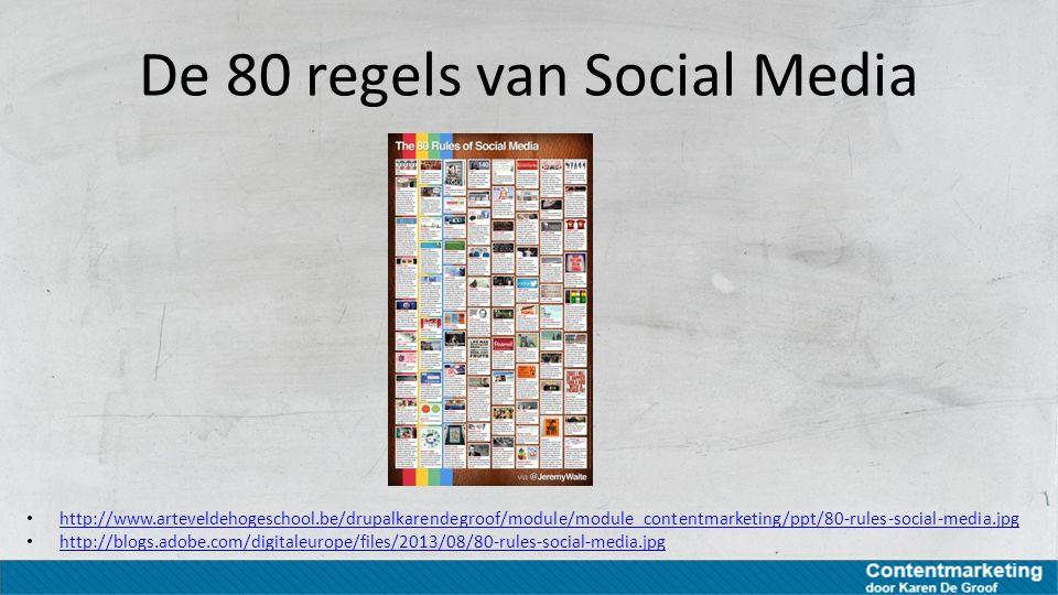 De 80 regels van Social Media