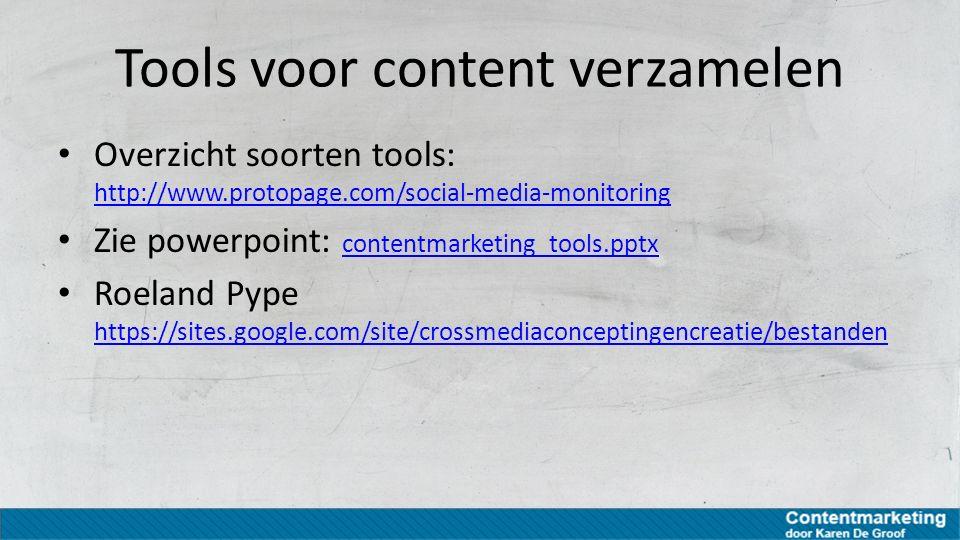 Tools voor content verzamelen