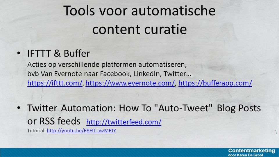 Tools voor automatische content curatie