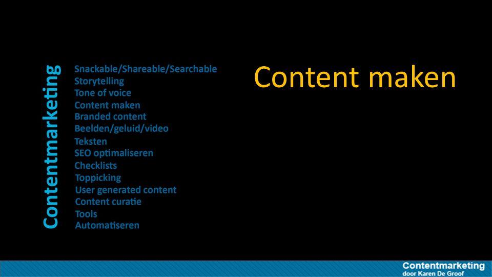 Content maken