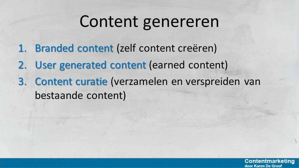 Content genereren Branded content (zelf content creëren)