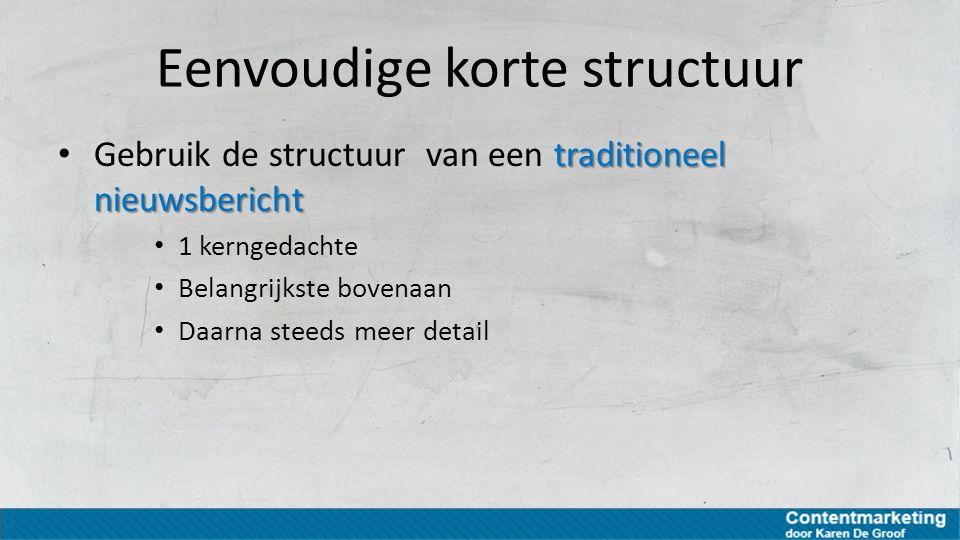Eenvoudige korte structuur