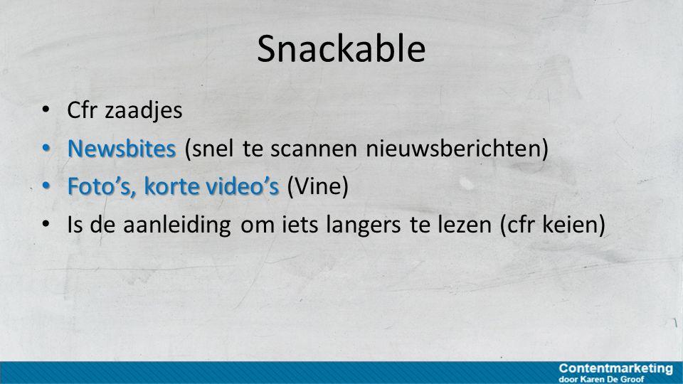 Snackable Cfr zaadjes Newsbites (snel te scannen nieuwsberichten)