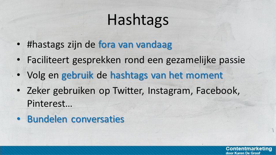 Hashtags #hastags zijn de fora van vandaag