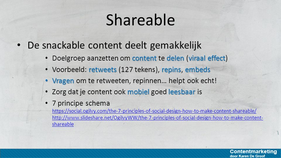Shareable De snackable content deelt gemakkelijk