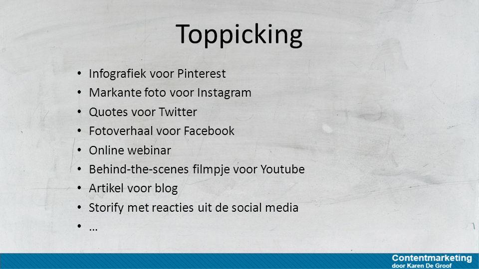 Toppicking Infografiek voor Pinterest Markante foto voor Instagram