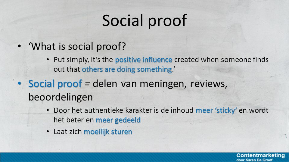 Social proof 'What is social proof