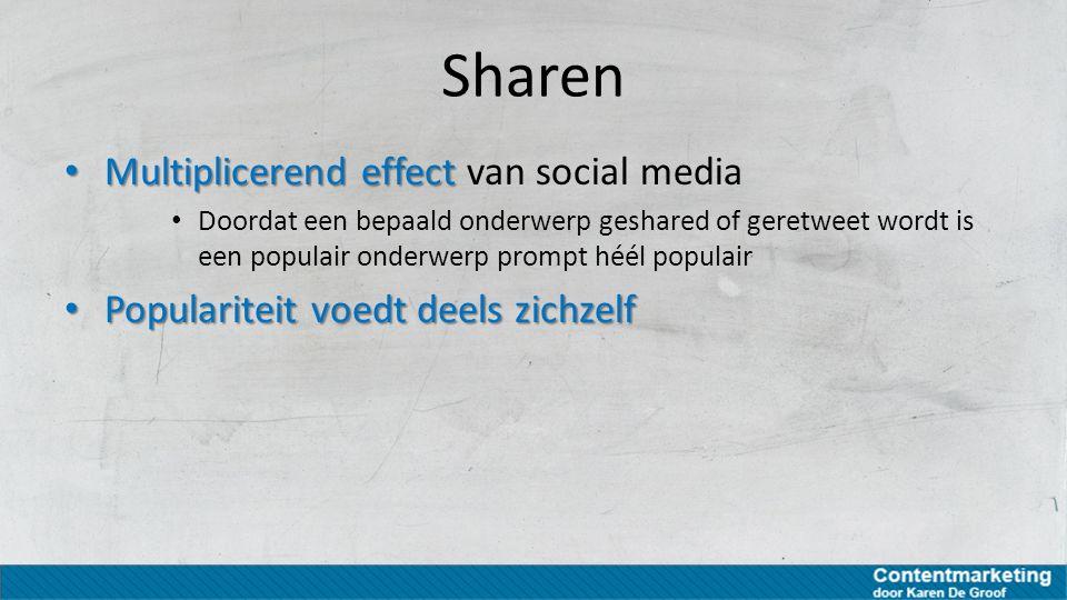 Sharen Multiplicerend effect van social media