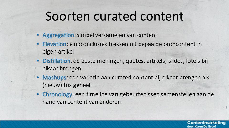 Soorten curated content