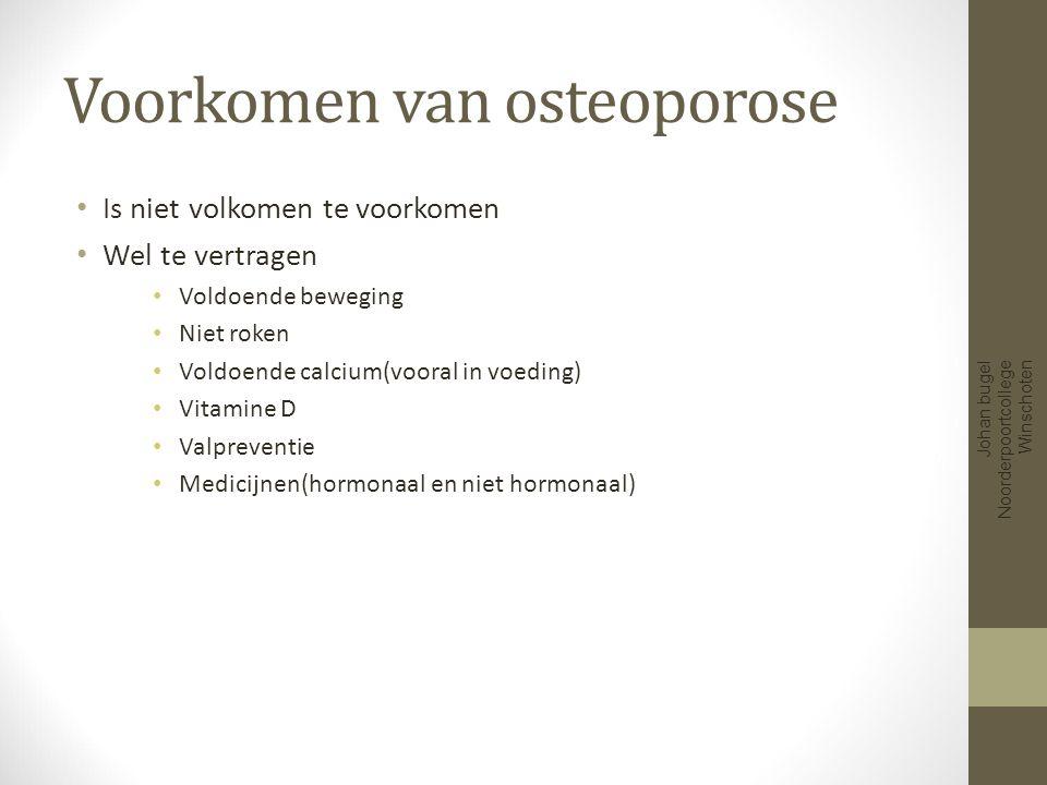 Voorkomen van osteoporose