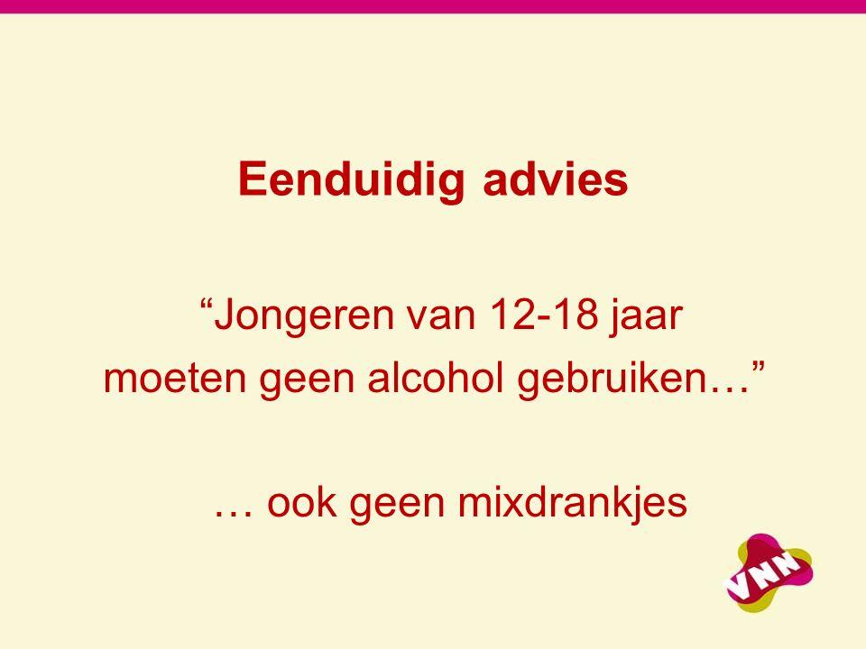 moeten geen alcohol gebruiken…