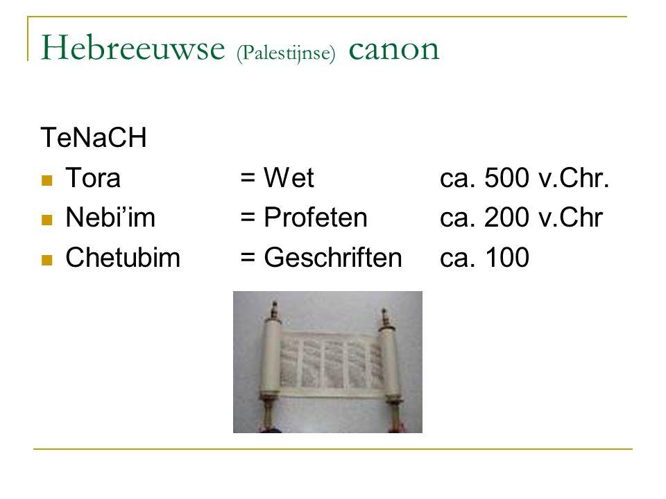 Hebreeuwse (Palestijnse) canon