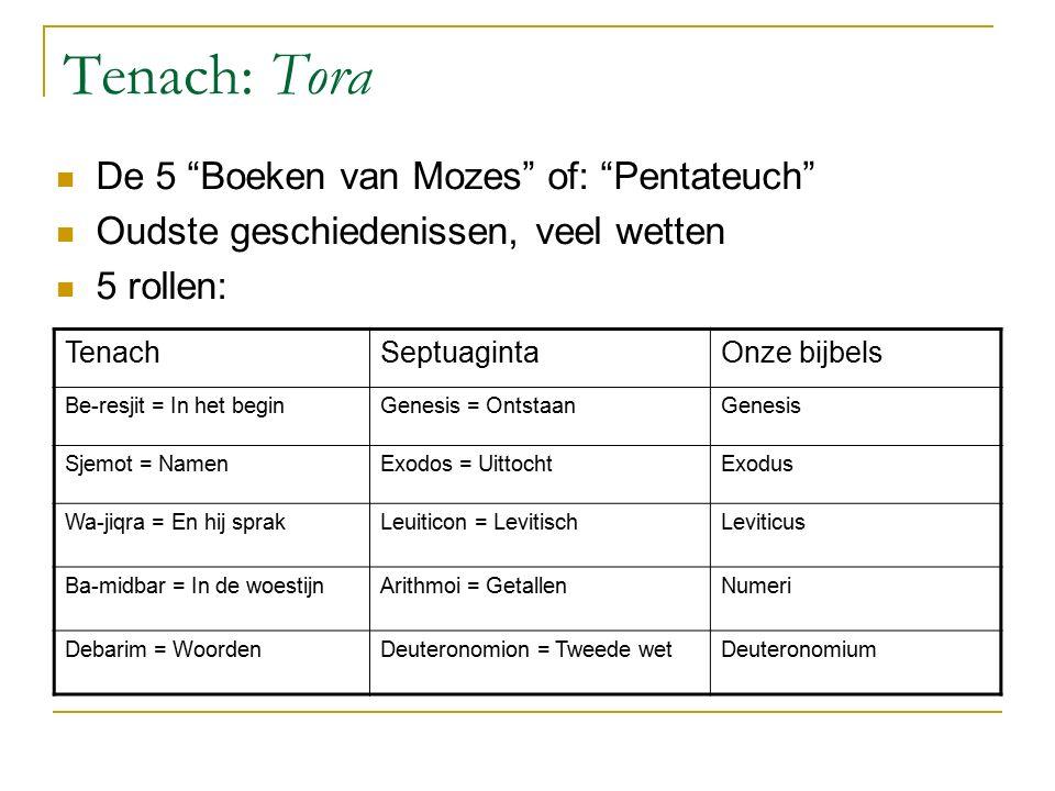 Tenach: Tora De 5 Boeken van Mozes of: Pentateuch