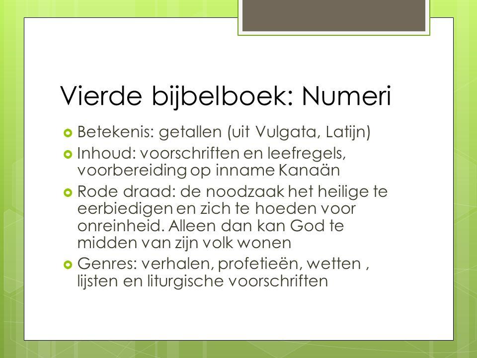 Vierde bijbelboek: Numeri