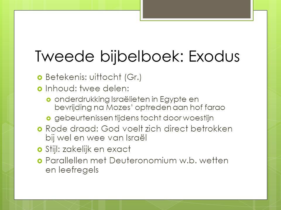 Tweede bijbelboek: Exodus
