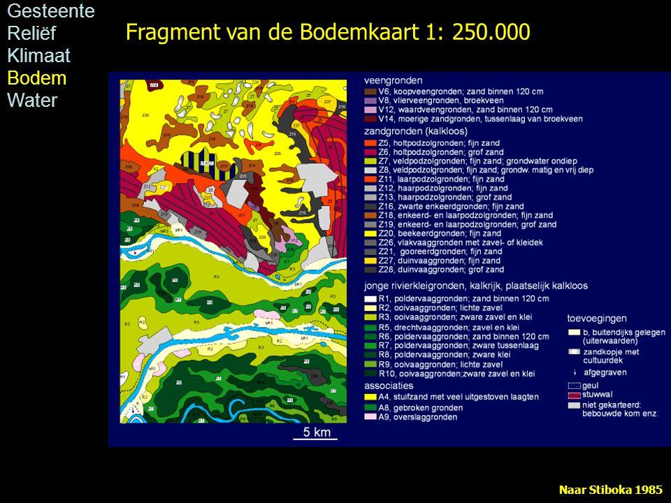 Fragment van de Bodemkaart 1: 250.000