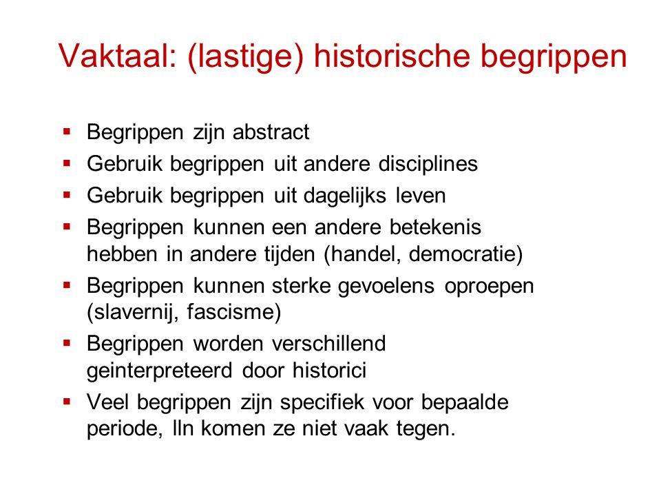 Vaktaal: (lastige) historische begrippen