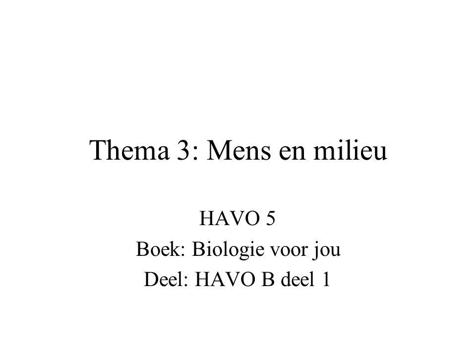 HAVO 5 Boek: Biologie voor jou Deel: HAVO B deel 1