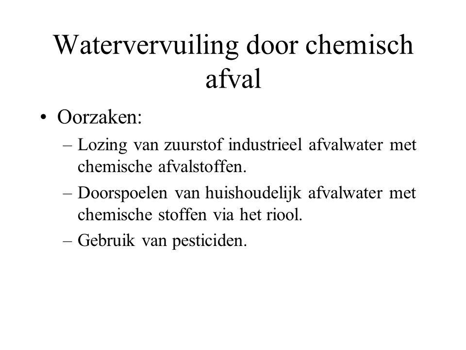 Watervervuiling door chemisch afval