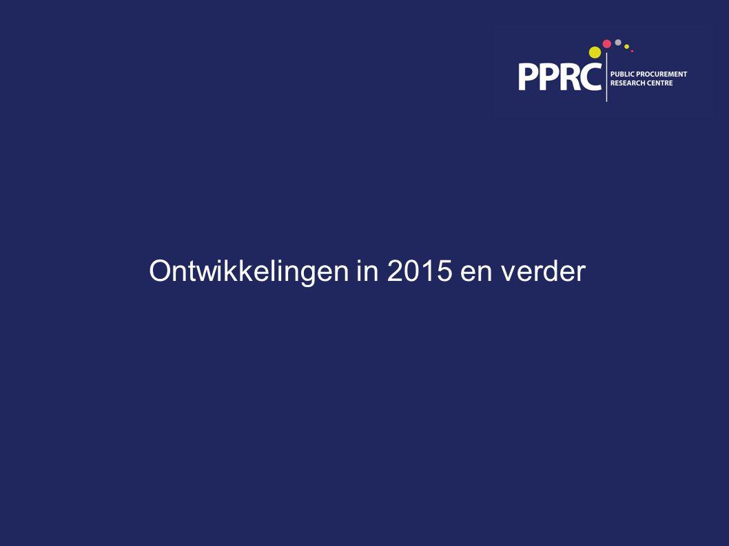 Ontwikkelingen in 2015 en verder