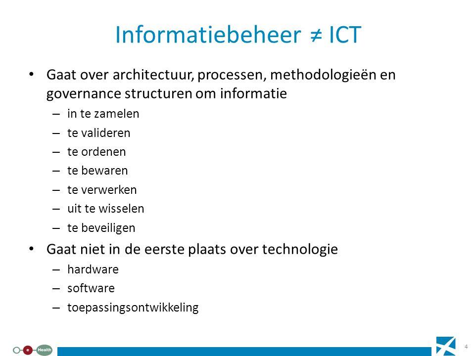 Informatiebeheer ≠ ICT