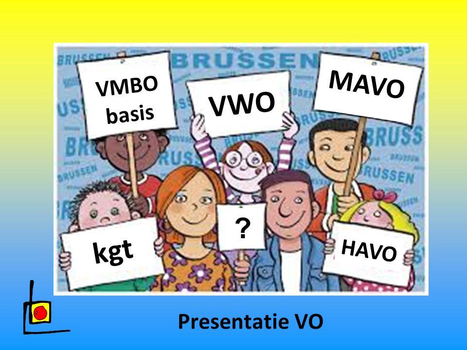 MAVO VMBO basis VWO kgt HAVO Presentatie VO