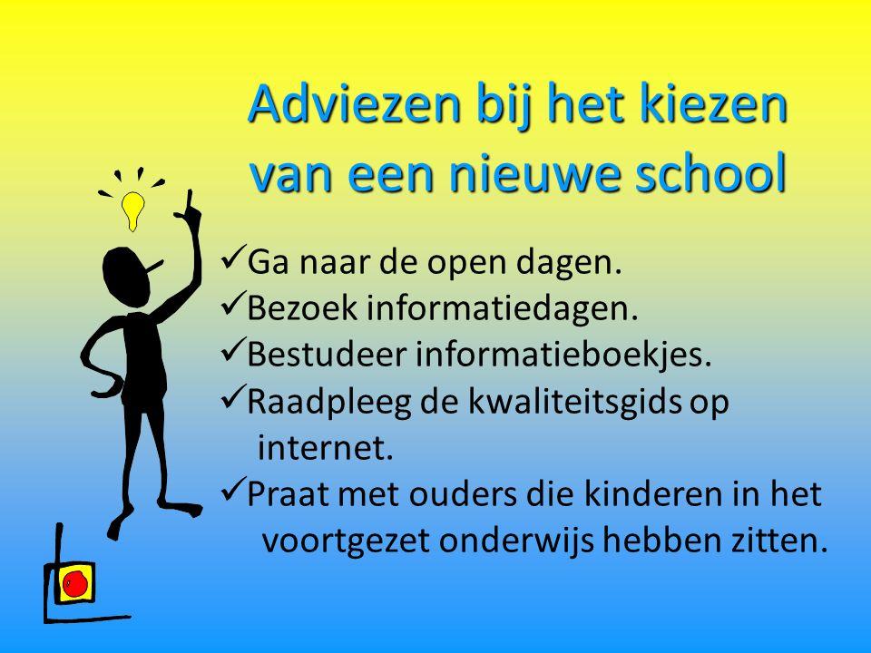 Adviezen bij het kiezen van een nieuwe school