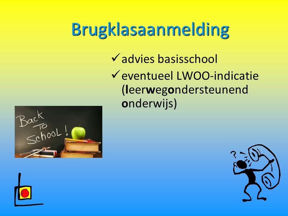 Brugklasaanmelding advies basisschool