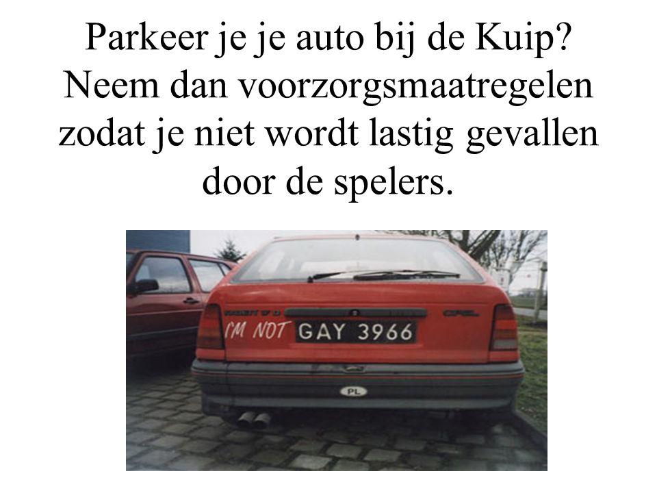 Parkeer je je auto bij de Kuip