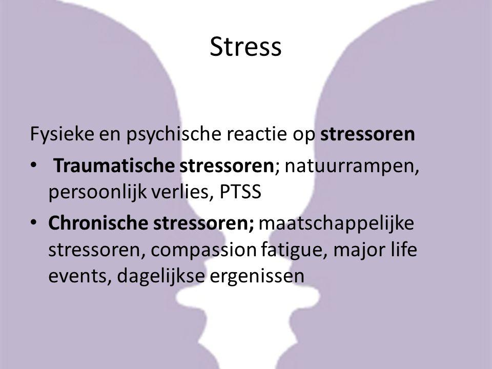 Stress Fysieke en psychische reactie op stressoren