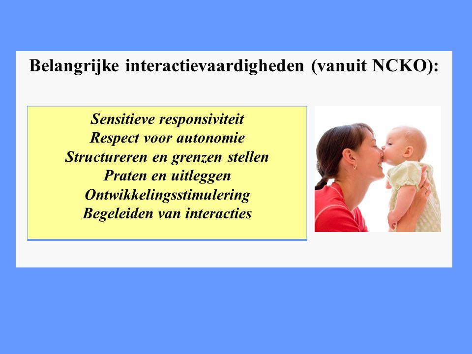 Belangrijke interactievaardigheden (vanuit NCKO):