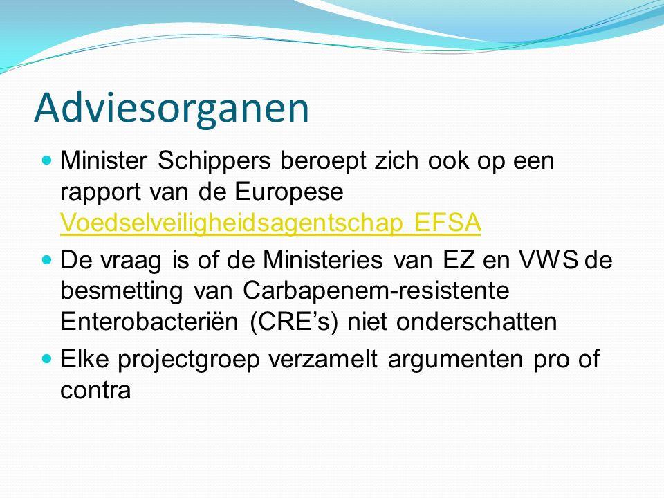 Adviesorganen Minister Schippers beroept zich ook op een rapport van de Europese Voedselveiligheidsagentschap EFSA.