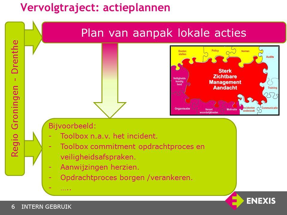 Vervolgtraject: actieplannen